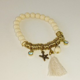 "Pulsera ""perlas marfil"""