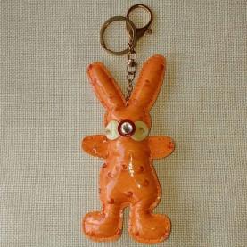 Llavero Charol Naranja Rabbit
