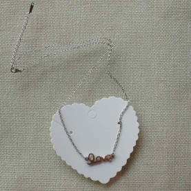 Collar Corto de acero Love