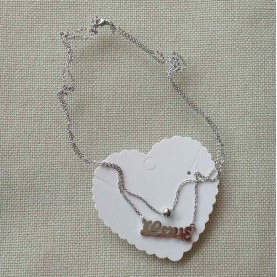 Collar corto acero love