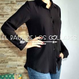 Camisa Negra Lisa (Talla de S a L)