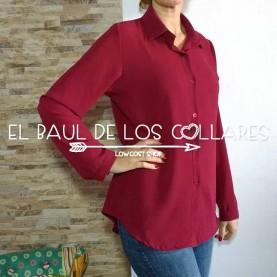 Camisa Granate Lisa (Talla de S a L)