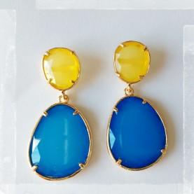 Pendientes Ninfa Amarillo y Azul