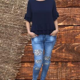 Jeans Elásticos Lentejuelas