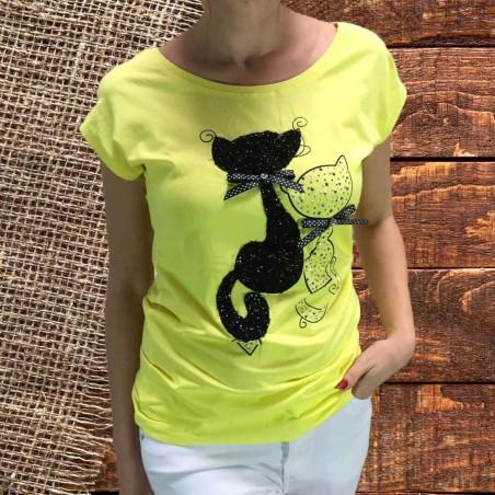 Camiseta Miaus Amarilla