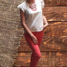 jeans elásticos coral