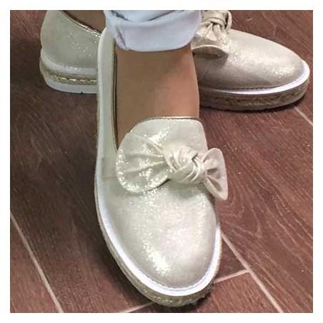 Sneakers Lazo Doradas