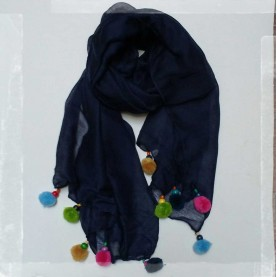 Lady scarf blue