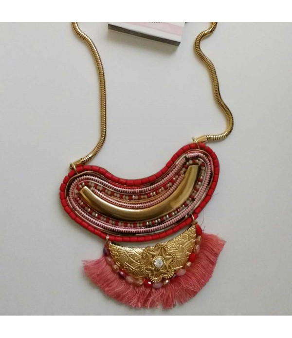 Collar mujer coral