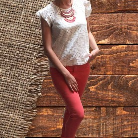 look mujer coral