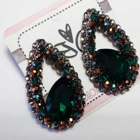 Pendientes cristal Verdes Brillantes