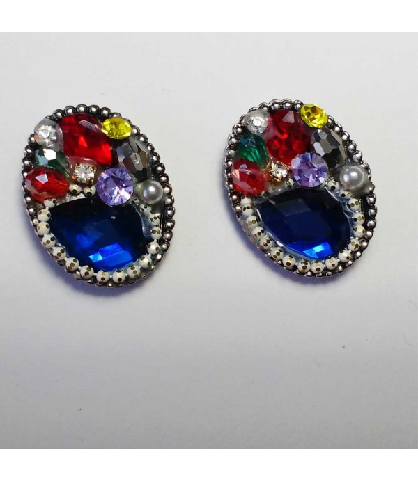 Pendientes Azules crystal
