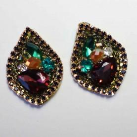 Pendientes Piedras cristal colores Sania