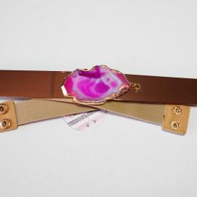 Cinturón elástico banda dorada