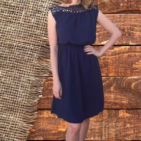 Vestido azul Marino sin mangas