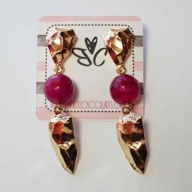 Earrings Ninfa pink and blue