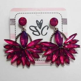 Long red earrings Xarisse