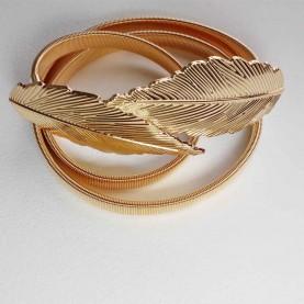 Cinturón dorado mujer