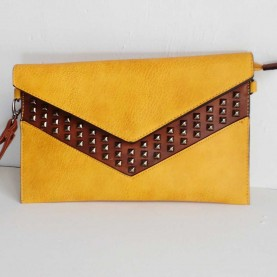 Clutch tachuelas Amarillo Palm