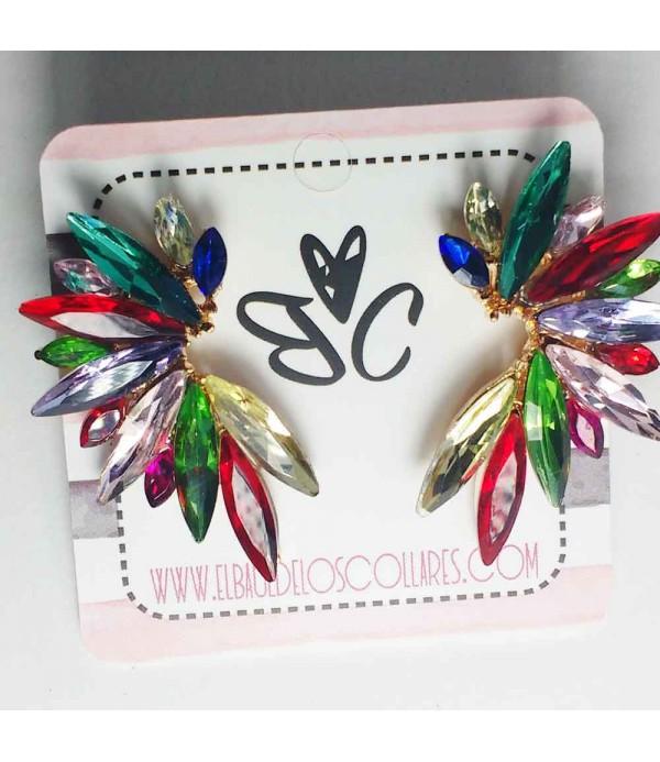 Pendientes cristal multicolor