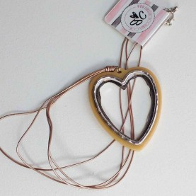 Women long neck lace with cuore