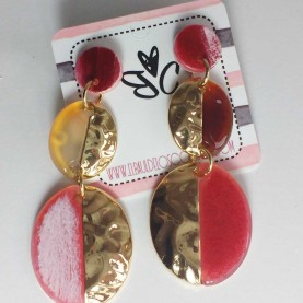 Pendientes Nacarados Salmon Mildred