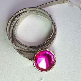 Cinturón metálico Crystal Rosa