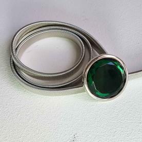 Cinturón metálico Crystal Verde