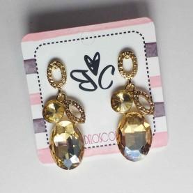 Long champagne Earrings Queen
