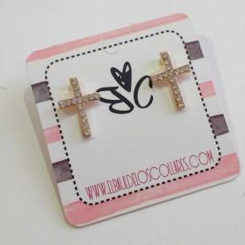 Earrings small cross