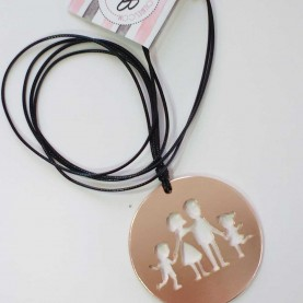 Long women necklace Family