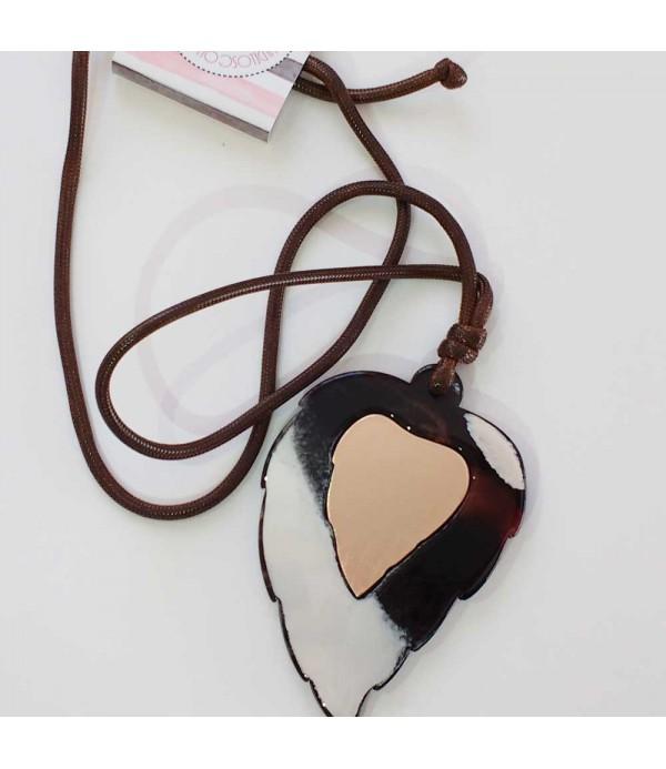 Collar Largo Mujer marrón
