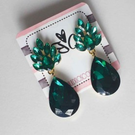 Pendientes verdes crystal