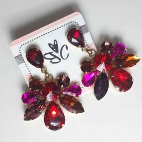 Pendientes Largos tonos rojos Scarlet