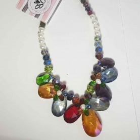 Collar de Cristal colores Manuela C