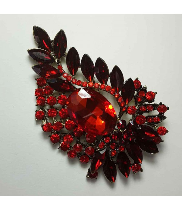 Red flower pin 90005