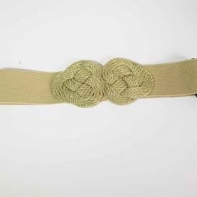 Cinturón-fajín dorado nudos Nadine