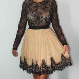 Vestido encaje Negro Eina