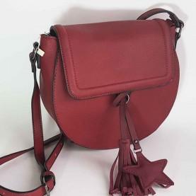 Shoulder Bag Maroon Style Pekin