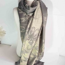 Pashmina Grey and golden style Triana