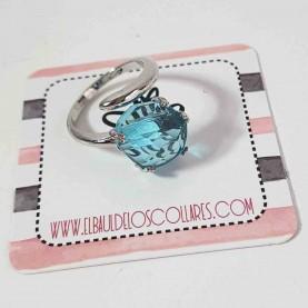 Anillo Ajustable Basic azul
