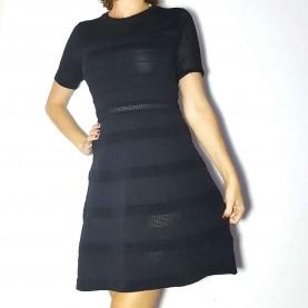 Vestido elástico negro RANSY