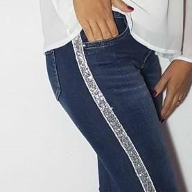 Jeans Elásticos lentejuelas Mini