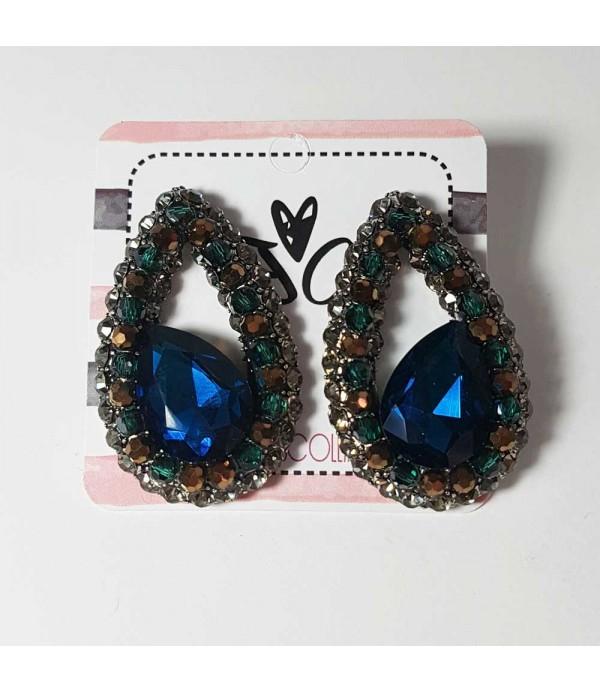 Pendientes de cristal azules