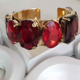Red crystal bracelet style Nice