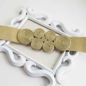 Cinturón-fajín dorado Aitana