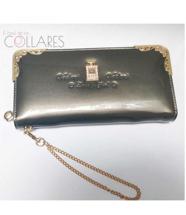 a035da786 Cartera gris perla de charol - Comprar carteras mujer online