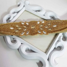 Cinturón-fajín dorado Lidia