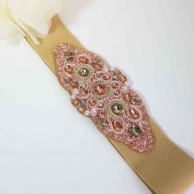 Cinturón-fajín rosa Shanka