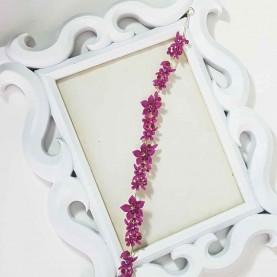Aplique Pelo Flores rosa